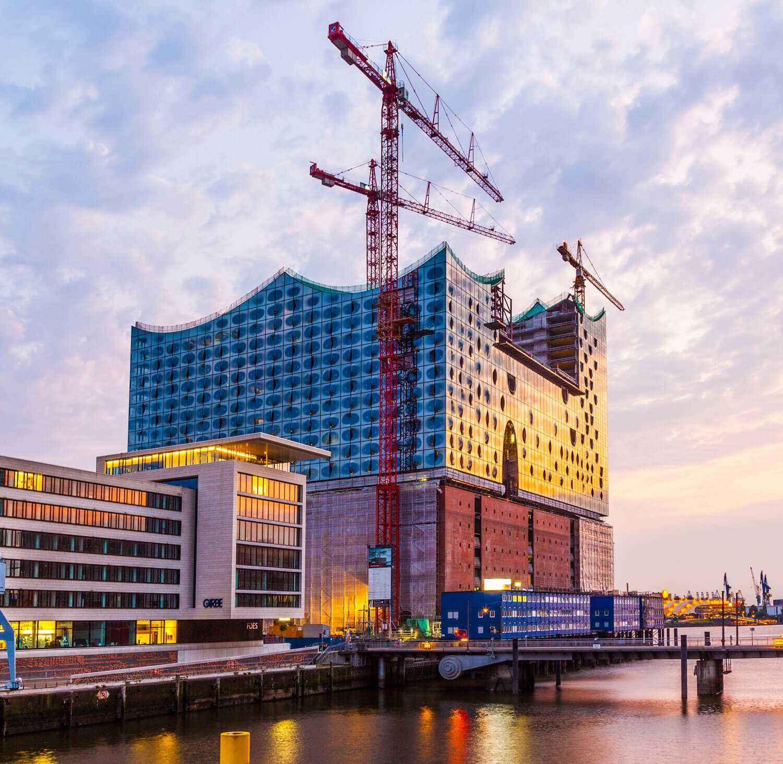 Филармония на Эльбе. Вид на Филармонию в Гамбурге
