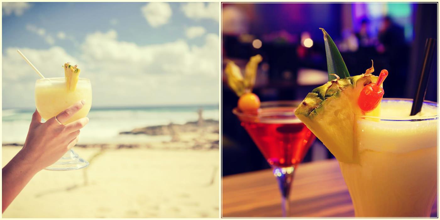 Коктейли. Красивые коктейли. Пляж и коктейли