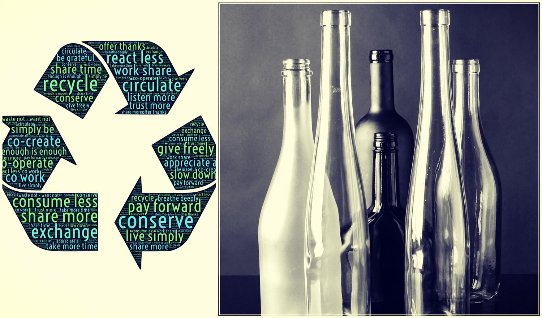 Разделение мусора. Бутылки. Ресайклинг