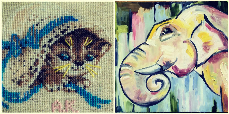 Творчество и рукоделие. Вышивание. Живопись