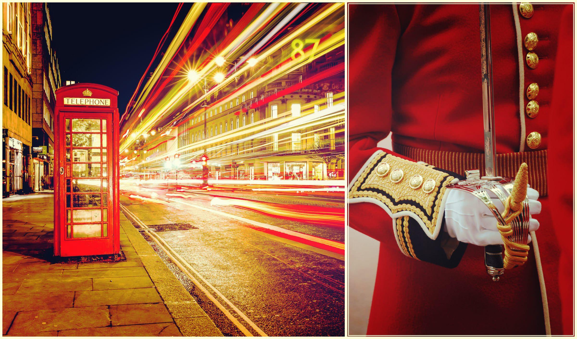 Красный костюм. Лондон. Город красных цветов