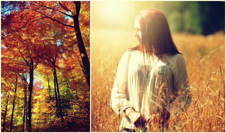 Золотая осень и девушка