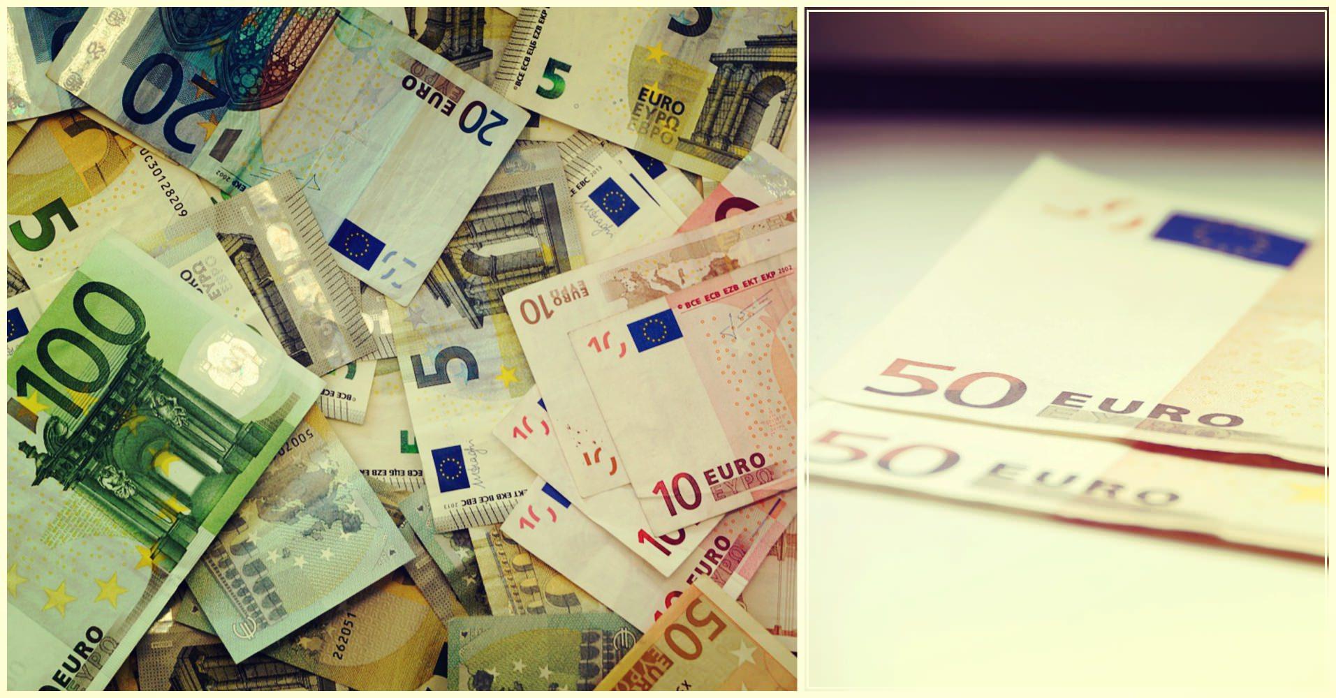 Деньги. Евро. Купюры.