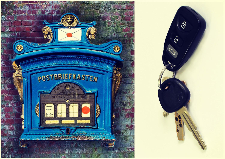 Почтовый ящик и ключи