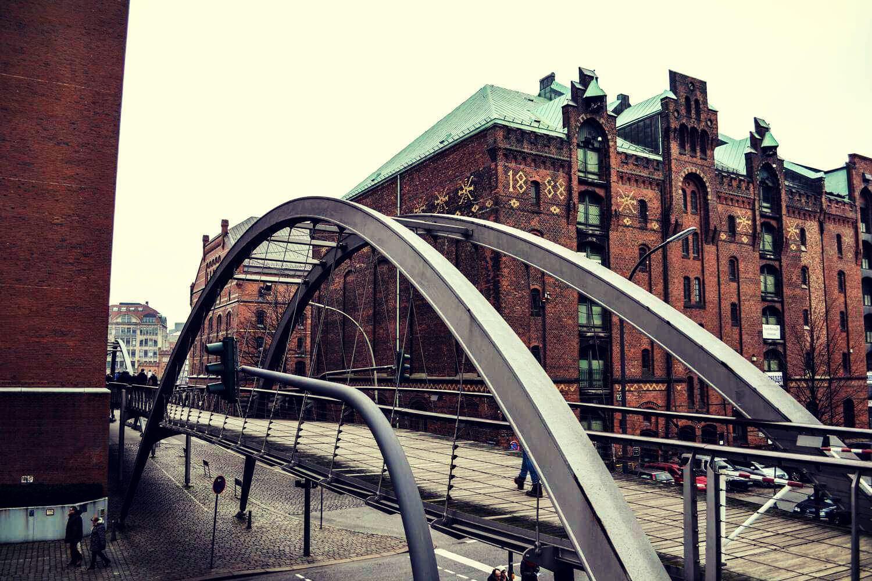 Мосты складского города Гамбурга