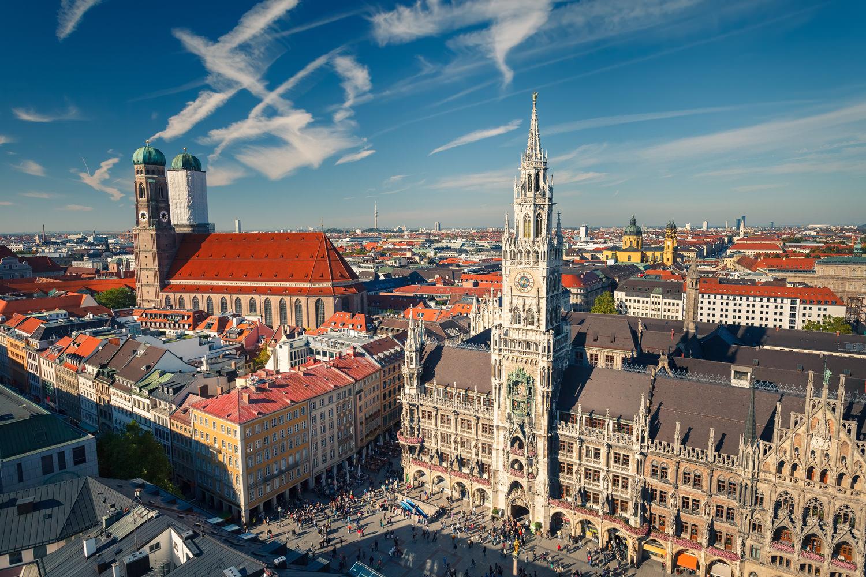 Бавария. Мнюнхен. Ратуша Мюнхена.